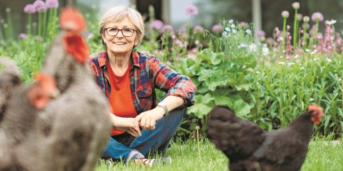 """""""Frieda legt grüne Eier"""": Eine Psychologin lebt die Natur bewusst"""