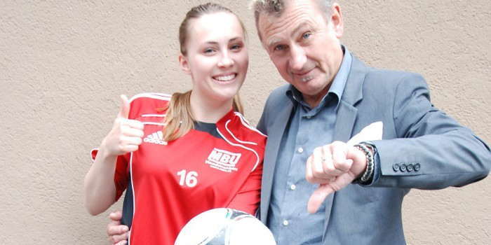 Vater und Tochter im EURO-Duell
