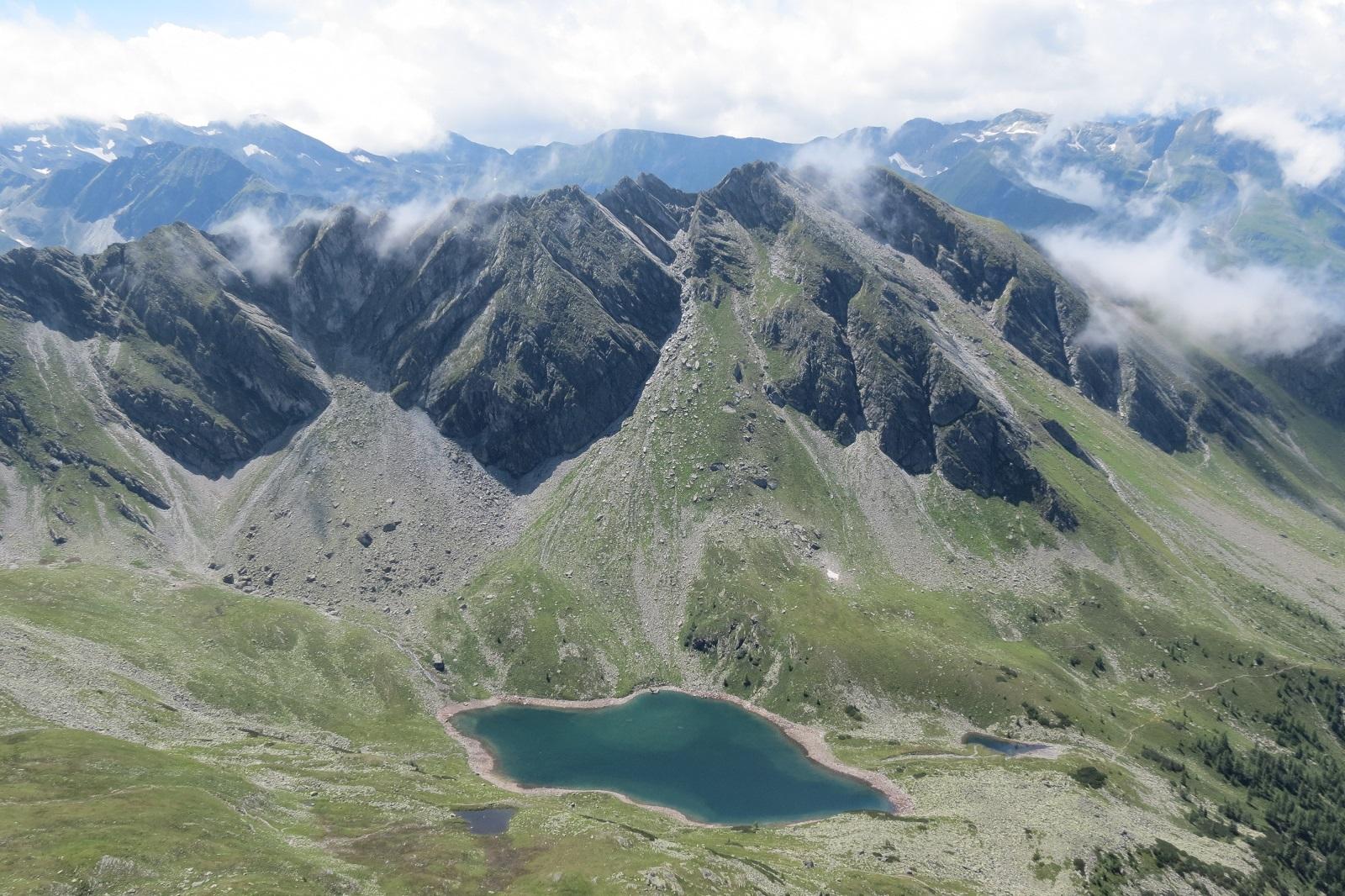 Der Palfnersee vom Graukogel-Südgrat aus gesehen.