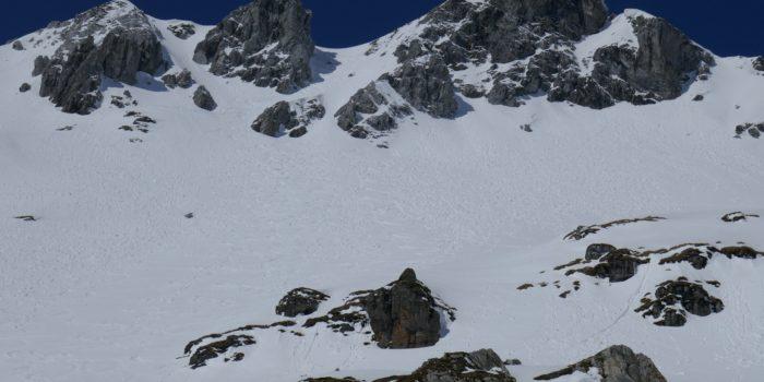 Zehnerkarspitze: Skitour nach Ende der Pistensaison