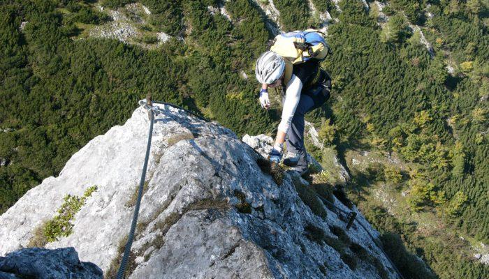 Klettersteig Bad Ischl : Ein leichter klettersteig auf die katrin salzburger fenster