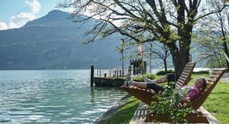 Romantischer Uferweg am Wolfgangsee