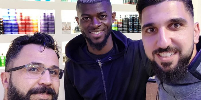Vorm Anpfiff zum Barber