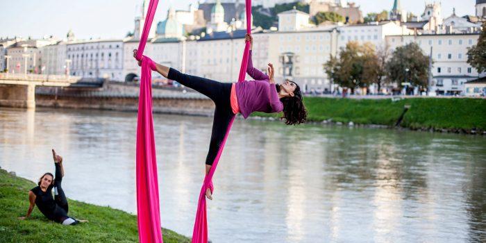 Outdoor-Sport im Luftraum über Salzburg
