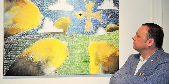 SF-Karikaturist Seli auch als Maler im Glück
