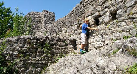 Wandern für Familien: die Ruine Gutrat