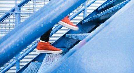 Fitness tanken am Weg ins Büro